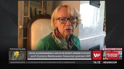 Krystyna Bieńkowska-Szewczyk o mutacjach koronawirusa