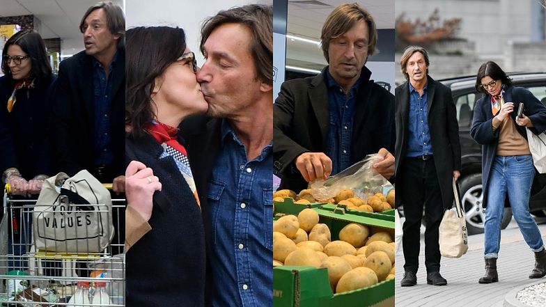 Zakochani Ilona Felicjańska i Paul Montana robią zapasy w supermarkecie