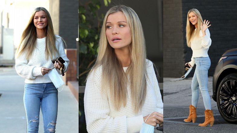 Joanna Krupa w podartych spodniach i kowbojkach pędzi na spotkanie biznesowe w LA (ZDJĘCIA)