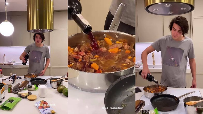 """Uczynny Nikodem Rozbicki gotuje dla Julii Wieniawy w jej gniazdku za 2 miliony: """"Wina dużo, OBFICIE"""" (ZDJĘCIA)"""
