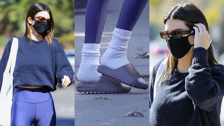 Kendall Jenner w klapkach i skarpetach maszeruje na siłownię w Beverly Hills (ZDJĘCIA)