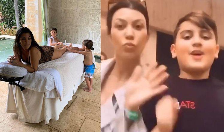"""Kourtney Kardashian """"tłumaczy"""" 10-letniego syna, który wyjawiał rodzinne sekrety na Instagramie: """"Nawet nie zapytał nas o ZGODĘ"""""""