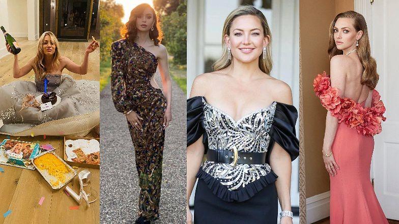 Złoty Globy 2021 Z DOMU: Kaley Cuoco, Lily Collins, Kate Hudson, Amanda Seyfried... (ZDJĘCIA)