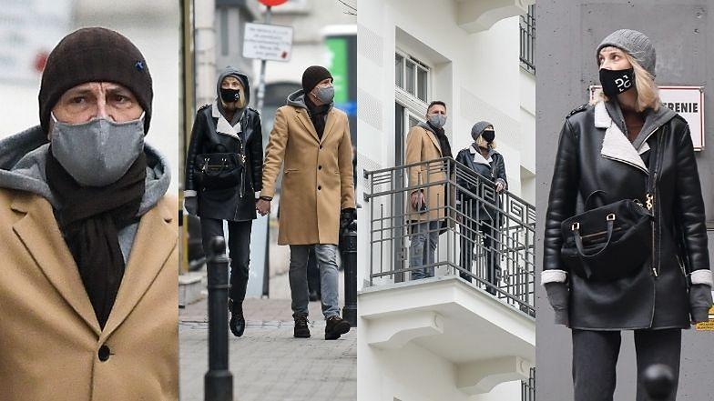 Krzysztof Ibisz i Joanna Kudzbalska oglądają mieszkanie w centrum Warszawy (ZDJĘCIA)