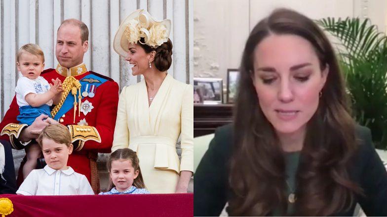 """""""Wyczerpana"""" Kate Middleton żali się na opiekę nad dziećmi podczas lockdownu: """"Musiałam robić to, w czym dotąd POMAGALI NAM INNI"""""""