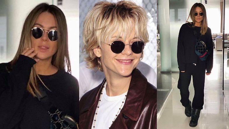 """""""Dresiarska"""" Małgorzata Rozenek wdzięczy się do zdjęć z saszetką Gucci. Fani: """"Wyglądasz jak Meg Ryan"""" (FOTO)"""