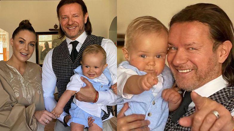 """Małgorzata Rozenek i Radosław Majdan celebrują Wielkanoc w rodzinnym gronie: """"Chodzimy na spacer, a przez resztę czasu JEMY"""""""