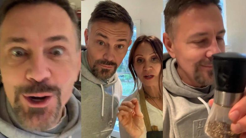 """Podekscytowany Krzysztof Ibisz relacjonuje popołudnie spędzone w domu Anny Nowak-Ibisz: """"WPADŁEM DO EX na obiad"""""""