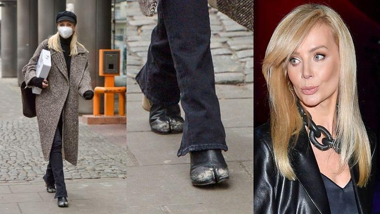 """Agnieszka Woźniak-Starak o botkach przypominających krowie racice: """"To są moje buty, ja je lubię i mnie się podobają"""""""