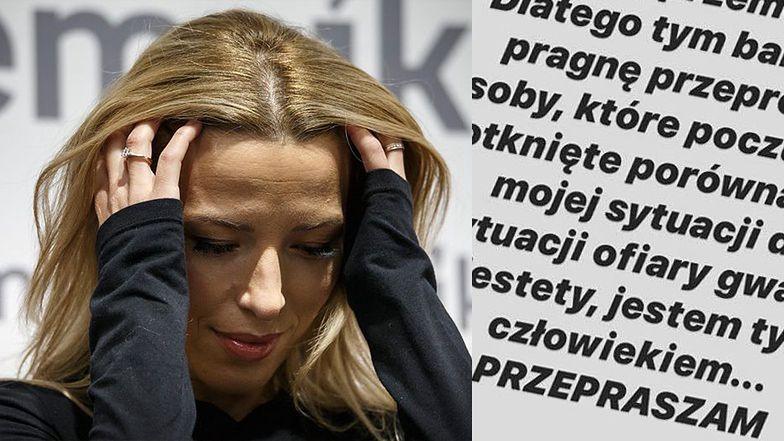 """Ewa Chodakowska przeprasza za porównanie krytyki barteru do """"afery na skalę GWAŁTU"""": """"Jestem tylko człowiekiem..."""""""