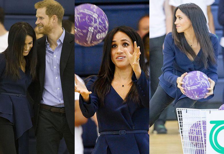 Meghan Markle i książę Harry na charytatywnym meczu