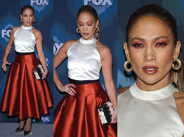 Dziwny makijaż Jennifer Lopez... (ZDJĘCIA)
