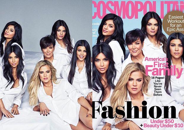 """(Prawie) wszystkie Kardashianki na okładce """"Cosmopolitan""""!"""