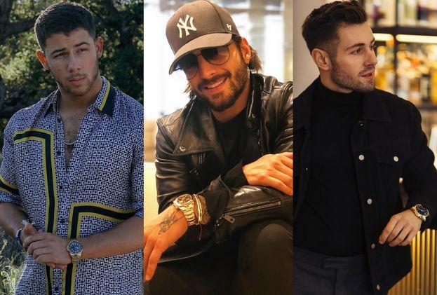 Męski złoty zegarek - celebryci w ekskluzywnym wydaniu