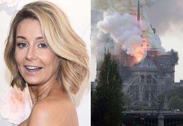 """Rozenek opłakuje płonącą katedrę zdjęciem w sponsorowanej stylizacji. Fani: """"Najważniejsze to nowe portki pokazać"""""""