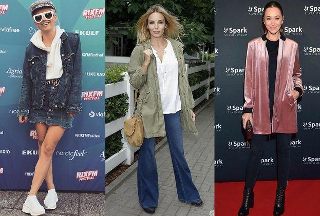 Najmodniejsze kurtki wiosenne - stylizacje celebrytek