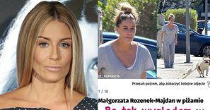 """Małgorzata Rozenek z DYSTANSEM komentuje zdjęcia paparazzi w dezabilu: """"Tak wyglądam w spodniach Radzia"""""""