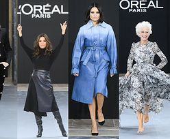 Gwiazdy na pokazie L'Oreal: Amber Heard, Eva Longoria, Helen Mirren i... Joanna Horodyńska (ZDJĘCIA)
