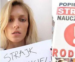 """Gwiazdy wspierają strajk nauczycieli. """"Wylała się koszmarna fala hejtu"""" (KLIKA PUDELKA)"""