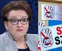 """Zalewska uspokaja strajkujących nauczycieli: """"Rozpoczęliśmy podwyżki"""""""