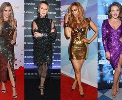 Sukienki sylwestrowe z cekinami - jakie wybierają gwiazdy?
