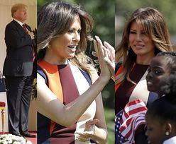 Melania i Donald Trump w Wielkiej Brytanii: spotkanie z Królową, gra w bule, wizyta u dzieci... (ZDJĘCIA)
