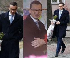 Romantyczny Morawiecki kupuje żonie kwiaty na Walentynki (ZDJĘCIA)