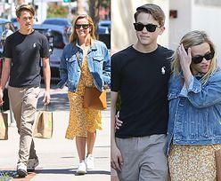 Promienna Reese Witherspoon na rodzinnym spacerze z mężem i synem