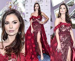 Dumna Miss Polonia eksponuje kolano i mrozi spojrzeniem