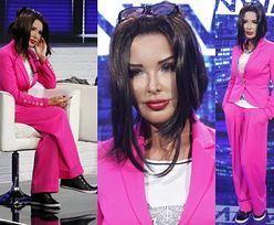 """Ewa Minge w różowym garniturze w """"Project Runway"""" (ZDJĘCIA)"""