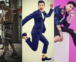 Kolorowe skarpetki na stopach celebrytów. Ładne?