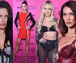 Modelki Victoria's Secret prężą się na różowej ściance: opuchnięta Adriana Lima, Bella Hadid, Candice Swanepoel... (ZDJĘCIA)