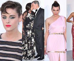 Gwiazdy pozują na gali amfAR: smutna Kristen Stewart, Pierce Brosnan z żoną, wyniosła Nicole Scherzinger... (ZDJĘCIA)