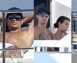 Miliarder Cristiano Ronaldo i jego ukochana Georgina Rodriguez opalają jędrne ciała na luksusowym jachcie (ZDJĘCIA)