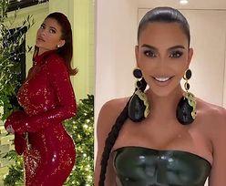 Kardashianki chwalą się ŚWIĄTECZNYMI STYLIZACJAMI. Która najlepsza?