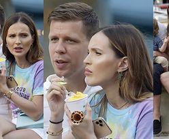 Marina Łuczenko grymasi, objadając się włoskimi lodami w towarzystwie Wojtka i Liama (ZDJĘCIA)