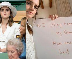 """Emma Watson nakłania fanów do przestrzegania kwarantanny: """"Moja babcia ma ponad 70 lat, moja mama ma cukrzycę..."""" (FOTO)"""