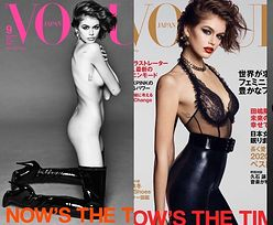 """Półnaga Kaia Gerber pręży smukłe ciało w odważnej sesji dla """"Vogue Japan"""". Dorównuje matce urodą? (ZDJĘCIA)"""