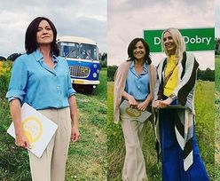 Promienne Agnieszka Woźniak-Starak i Ewa Drzyzga w stylu RETRO pozują na łonie natury (ZDJĘCIA)