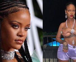 """Półnaga Rihanna pozuje ze świętym symbolem hinduizmu: """"Jak możesz nosić naszyjnik z Ganeśą i pozować W TAKI SPOSÓB?"""" (FOTO)"""