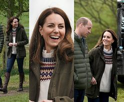 """""""Swojska"""" Kate Middleton bawi się z owcami i jeździ traktorem w kozakach za  2,5 tysiąca, które ma w szafie już od 17 lat (ZDJĘCIA)"""