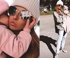 Jesienna Anna Lewandowska w czapce spaceruje z córkami po Monachium (ZDJĘCIA)