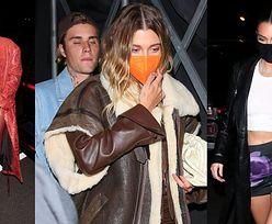 Gwiazdy na imprezie Justina Biebera: Kendall i Kylie Jenner oraz Hailey Bieber w kurtce SARY BORUC! (ZDJĘCIA)