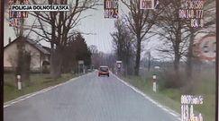 Jechała 120 km/h w obszarze zabudowanym. Nagranie z niebezpiecznej jazdy na Dolnym Śląsku
