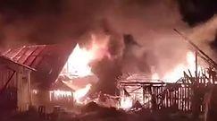 Ogromny pożar w Małopolsce. Strażacy walczyli z ogniem kilka godzin