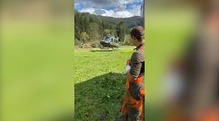 Znokautowany przez drzwi karetki. Lądowanie śmigłowca na polanie