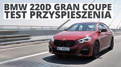 BMW 220d Gran Coupe 2.0 190 KM (AT) - przyspieszenie 0-100 km/h