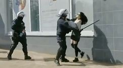 Głogów. Policjant bił pałką kobietę. Teraz KGP zabrała głos