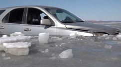 Jazda autem po cienkim lodzie. Rosjanie pokazują nagranie