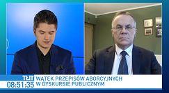 Aborcja. Jarosław Sellin tłumaczy stanowisko rządu ws. wyroku TK